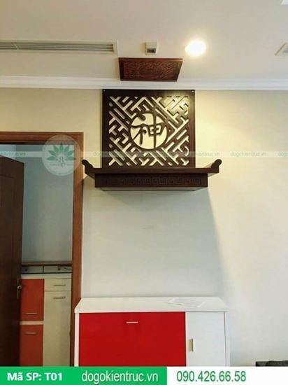 Bàn thờ treo tường đẹp - Mã T01