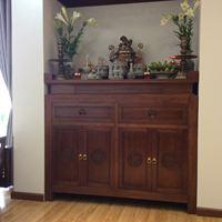 Bàn thờ gỗ tự nhiên phong cách Đồ gỗ Kiến trúc