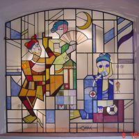 Tranh kính màu nghệ thuật - Nhà hát chèo Hà Nội