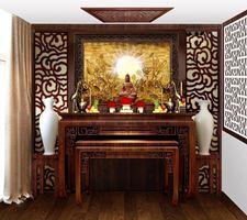 Tủ thờ gỗ gụ phong cách hiện đại