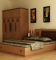 Mẫu giường gỗ tự nhiên đẹp phong cách hiện đại