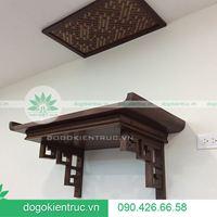 Mẫu bàn thờ treo tường đẹp, hiện đại cho nhà chung cư nhỏ - Đồ Gỗ Kiến Trúc