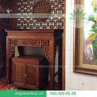 Bàn thờ đẹp nhà chung cư | Đồ Gỗ Kiến Trúc