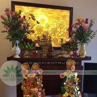 Cách bao sái, trang trí bàn thờ gia tiên đẹp nhất cho dịp cuối năm