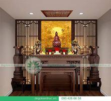Mẫu bàn thờ đẹp, hiện đại cho không gian Biệt thự, Nhà vườn