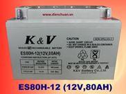 Ắc Quy K&V 12V-80Ah(ES80H-12)