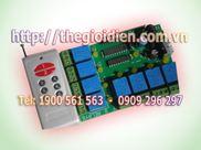 Mạch tắt/mở thiết bị điện 8 kênh vô tuyến