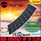 Tấm pin năng lượng mặt trời uốn cong 100w