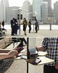 Sạc điện thoại ngay trên phố với các trạm sạc năng lượng mặt trời