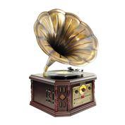 Loa kèn nghe đĩa than kiểu cổ Pyle Vintage PVNP4CD Classical Trumpet Horn Turntable
