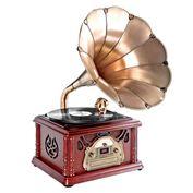 Loa kèn nghe đĩa than kiểu cổ Pyle Vintage PTCDS3UIP Classical Trumpet Horn Turntable