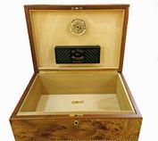 Hộp đựng cigar cao cấp Agresti Solid Burl Wood Inlayed - 100 điếu