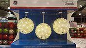 Bộ đèn trang trí GE 3 Pack Led Spheres
