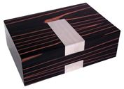 Hộp đựng trang sức Bey-Berk Ebony Wood Jewelry Box