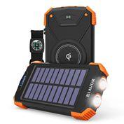 BLAVOR  Pin Sạc Năng Lượng Mặt Trời/ Bộ Sạc Di Động Qi/ Pin Ngoài 10000mAh