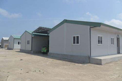 Nhà tôn lắp ghép 2 mái, nhà điều hành