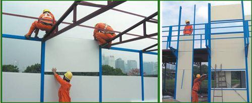 Các giai đoạn tháo dỡ công trình lắp ghép panel tôn xốp