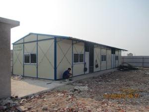 Xây nhà lắp ghép nhà điều hành công trường