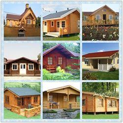 Nhà lắp ghép vân gỗ 3D