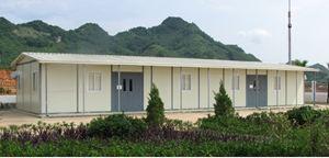 Nhà lắp ghép làm lán trại cho các công trình xây dựng