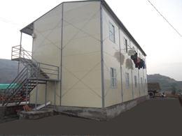 Nhà lắp ghép khung thép 2 tầng