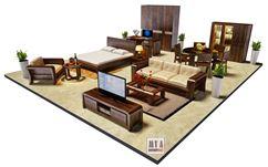Thiết kế nội thất gian trưng bày Gỗ Óc Chó_Showroom 188 Đội Cấn