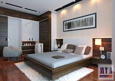 Thiết kế nội thất phòng ngủ master_Nhà Anh Tuấn