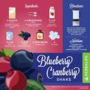 HERBALIFE FORMULA 1 VANILLA RECIPES WITH BLUEBERRY SHAKE & CRANBERRY