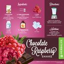 HERBALIFE FORMULA 1 CHOCOLATE RECIPES WITH  CHOCOLATE SHAKE & RASPBERRIES