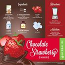 HERBALIFE FORMULA 1 CHOCOLATE RECIPES WITH CHOCOLATE SHAKE & STRAWBERRIES
