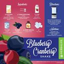 HERBALIFE FORMULA 1 CHOCOLATE RECIPES WITH BLUEBERRY SHAKE AND CRANBERRY