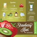 HERBALIFE FORMULA 1 CHOCOLATE RECIPES WITH STRAWBERRY & KIWI SHAKE