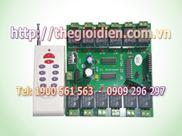 Mạch tắt/mở thiết bị điện 12 kênh vô tuyến