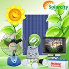 Hệ thống điện năng lượng mặt trời-Tivi, quạt, đèn led (COMBO50)