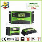 Điều khiển sạc pin mặt trời PWM 20A LCD + hiển thị Ampe