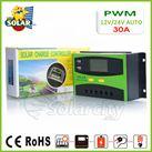 Điều khiển sạc pin mặt trời PWM 30A LCD + hiển thị Ampe