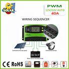 Điều khiển sạc pin mặt trời PWM 40A LCD + hiển thị Ampe