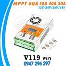 Bộ điều khiển sạc MPPT 60A LCD + Wifi V119