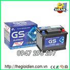Ắc quy ô tô GS khô 12v-60Ah (DIN60L-LBN) cọc thụt