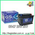Ắc quy ô tô GS khô 12v-70Ah (DIN70L) cọc thụt
