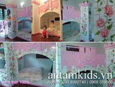 Giường lâu đài công chúa HinhThat11 - Hình thật 100%