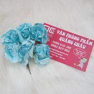 Cành hoa giấy viền nhũ 6 bông_HM15