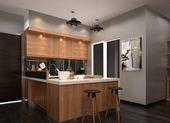 Tủ bếp acrylic hiện đại đẹp