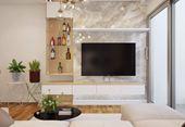Thiết kế nội thất chung cư nhà anh chiến Kim Văn Kim Lũ Tòa C