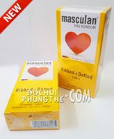 Bao cao su gai gân Masculan® Ribbed + Dotted