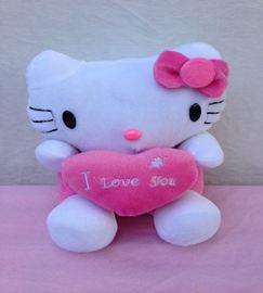 Mèo kitty ôm trái tim