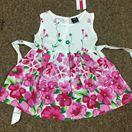 Váy thô hoa bé gái Size 1-5 dây 5 chiếc theo màu Chất coton thô 100% mềm và mát.