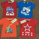 Áo phông bé trai  Size nhí 1-5 dây 5 chiếc theo màu. Chất coton thun lạnh.