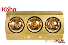Đèn sưởi Braun 3 bóng vàng mới KN03G (Bảo hành 5 năm)