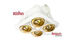 Đèn sưởi nhà tắm Braun (4 bóng âm trần )